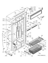parts for ge zics360nmcrh refrigerator appliancepartspros com 03 zer section trim components parts for ge refrigerator zics360nmcrh from appliancepartspros
