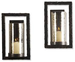 stunning candle holder wall sconces houzz kathy kuo home pair tomar contemporary oiled bronze