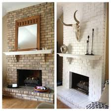 painted white brick fireplaceBrick fireplace painted white   Pinteres