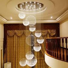 chandeliers high end k9 crystal led crystal ceiling pendant chandeliers lighting hanging lamp staircase hotel hall villa crystal lighting chandeliers