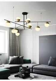 Großhandel Moderne Led Licht Wohnzimmer Kronleuchter Persönlichkeit Esszimmer Küche Licht Kreative Studie Modell Zimmer Glas Kronleuchter Beleuchtung