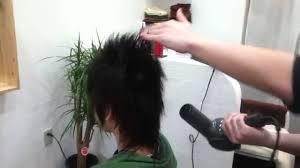 ドライヤーで髪を立たせる Youtube