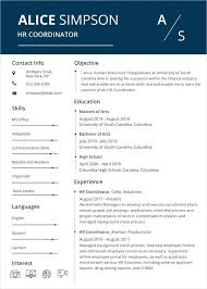 Free Modern Resume Templates Google Docs Free Design Resume Templates Hr Coordinator Resume Word Template
