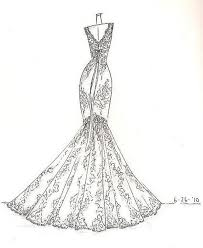 Sketch Fashion Designing Dress Drawing Valoblogicom