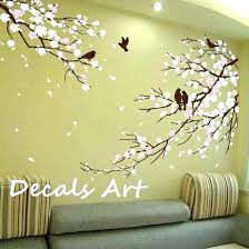 white tree wall art tree stickers for wall stickers teenage girl bedroom wall decals nursery elegant
