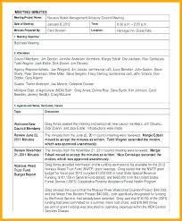 Office Meeting Minutes Template