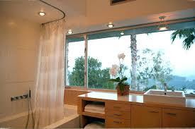 round shower curtains round shower curtain rod bathroom modern with bath bathtub contemporary curtain image by