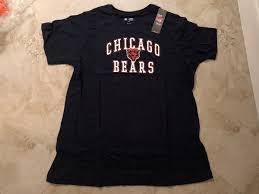 Details About Chicago Bears Fashion Shirt Ladies 1xl Navy Sharp Logo Ladies Cut Womens Nfl