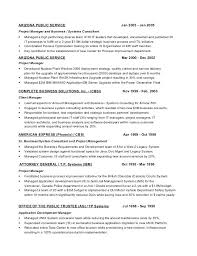 Oracle Apps Project Manager Resume Gallery Of Project Manager