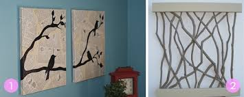 All of these pieces of wall art are simple to make, and they will add a bit  of natural beauty to your bare walls.