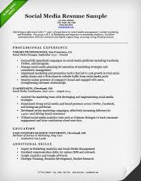 social media resume sample resume genius media resume template
