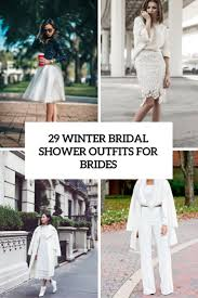 29 Winter Bridal Shower Outfits For Brides Weddingomania