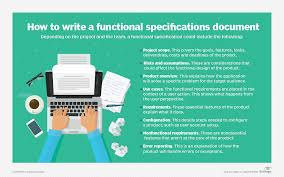 Design Spec Example What Is A Functional Specification Document