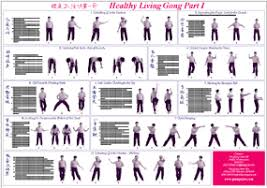 Healthy Living Chart Healthy Living Gong Wall Chart