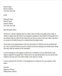 Letter To School Principle Formal Letter Format To School Principal With Subject Sample