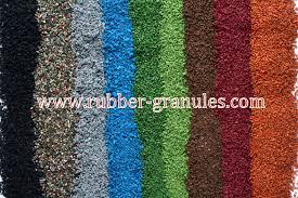 Infill Materials Rubber Artificial Grass Rubber Granules