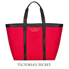 authentic victoria s secret large canvas ping tote