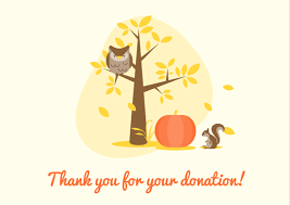 Donor Thank You Letter Sample Donation Thank You Letter Samples Free Printable Cards