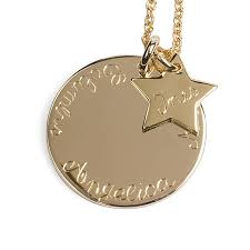 personalised 9ct solid gold sleek pendant