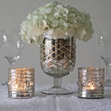 mercury silver footed vase
