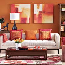 Room  Paprika and beige living ...
