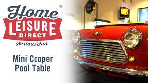 mini cooper pool table home leisure direct