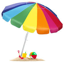 beach umbrella. Brilliant Umbrella BCP Tilt Rainbow Beach Umbrella W Carrying Case U0026 Anchor  Multiple Sizes On A