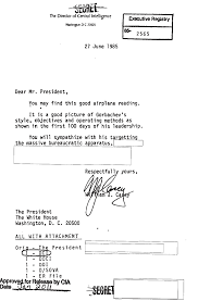 reagan intelligence and the end of the cold war government book  image cover letter to president ronald reagan
