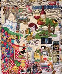 175 best Collage quilts images on Pinterest   Buttons ideas, Candy ... & 'Balancing Act' machine quilted, raw edge appliqué, collage quilt, cats. ' Adamdwight.com