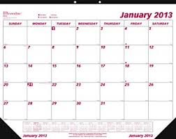 Monthly Calendar 2013 Brownline 2013 Monthly Desk Pad Calendar January December 22 X 17 Inches C1731 13