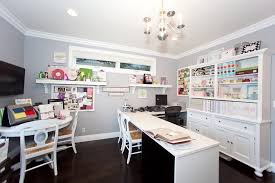 lighting craft room design. art and craft room ideas home office contemporary with ceiling lighting white desk design