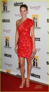 Hillary Swank Hilary Swank Red Hot At Hollywood Awards Gala Photo 2490309