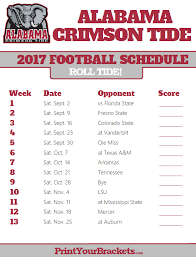 printable alabama crimson tide football schedule