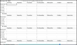 Recipe Spreadsheet Template Daily Meal Planning Template Excel Menu