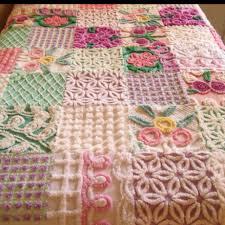 Gorgeous hand-made shabby chic quilt.   crochet   Pinterest ... & Gorgeous hand-made shabby chic quilt. Chenille ... Adamdwight.com