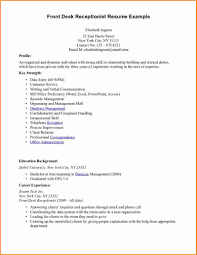 Medical Receptionist Job Description Resume Resume Profile For Receptionist Therpgmovie 38