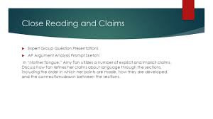 faces of america and linguistic realities ppt video online close reading and claims