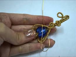 heart key wire wrapped pendant
