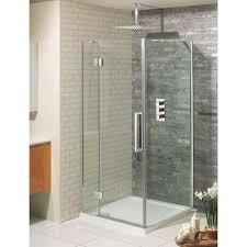 crosswater ten hinged shower door with inline panel optional side panel