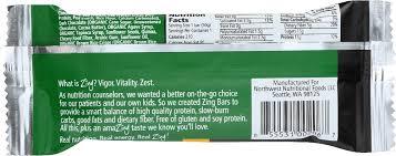 zing bars dark chocolate mint nutrition bar 1 76 oz