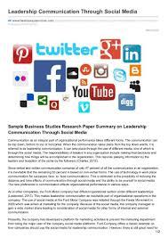 bestessayservices com leadership communication through social media