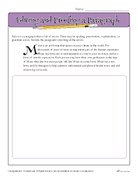 Editing and Proofing a Paragraph | Proofing and Editing Worksheets