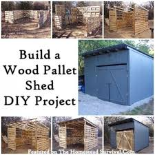pallet shed. diy wood pallet shed