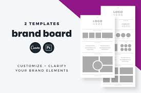 Canva Seating Chart Template Brand Board Template Canva Psd Presentation Templates