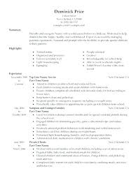 Examples Of Nanny Resumes Wonderful Best Nanny Resume Nanny Resume Template Sample Nanny Resume Best Of