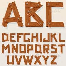 vector wooden alphabet characters vectors