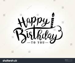 happy birthday design happy birthday greeting card lettering design stock vector