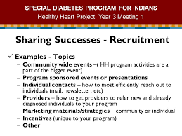 special diabetes program for ns healthy heart project year  1 special