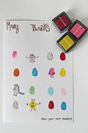 Fingerprint Monster Thank You Cards