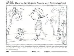 Kleurwedstrijd Aadje Piraatje Het Punt